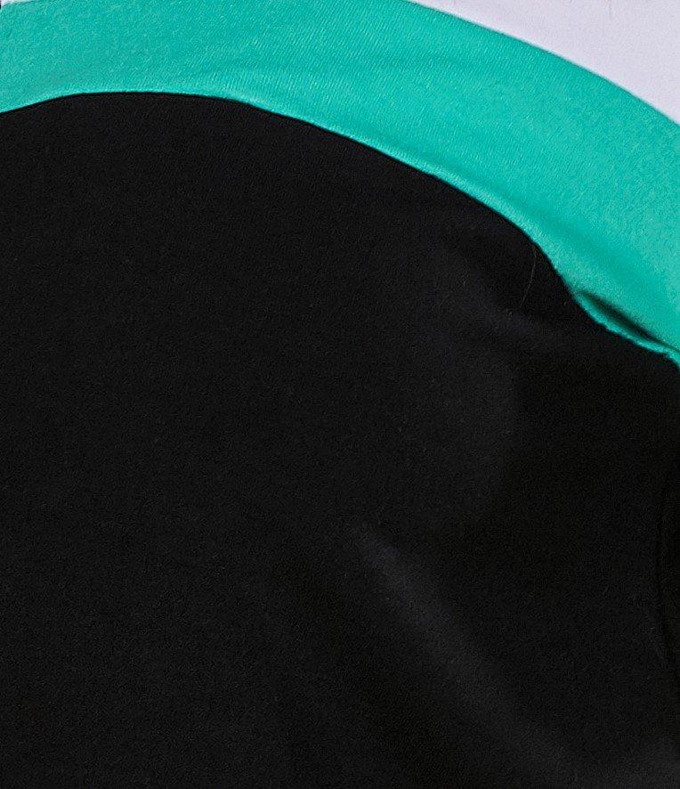 Preto com verde agua e branco